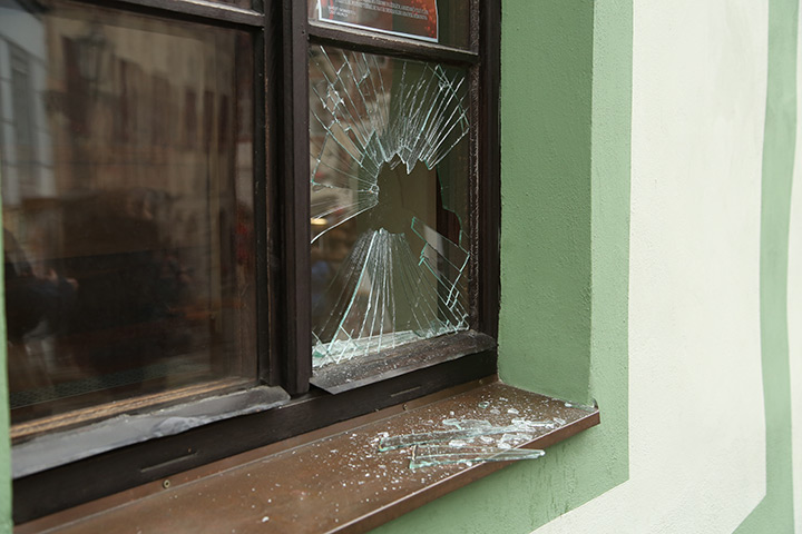 A2B Glass are able to board up broken windows while they are being repaired in Northwood.